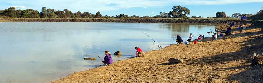 Fishing at Yarrambat Park Lake