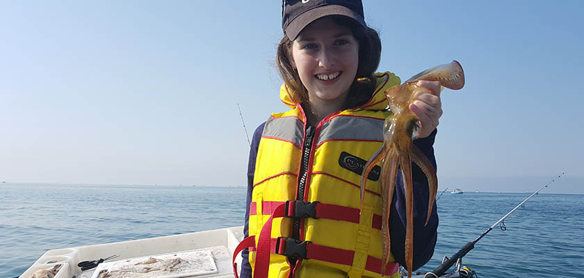 Kids Squid Fishing