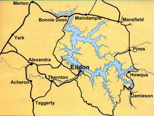 Lake Eildon Map