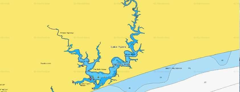 Lake Tyers Fishing Map