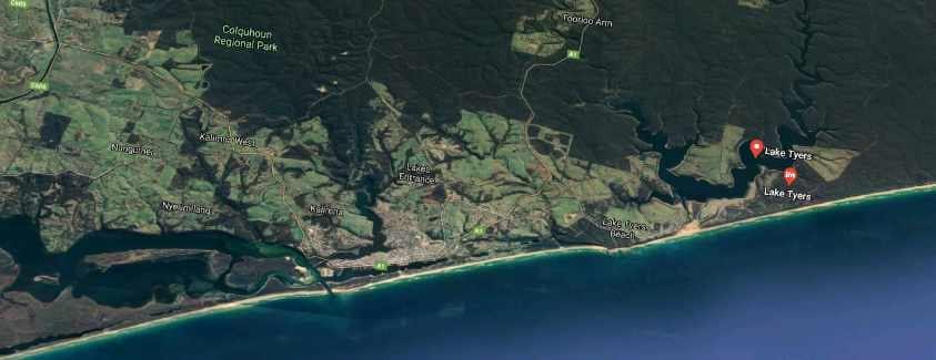 Lake Tyers Map