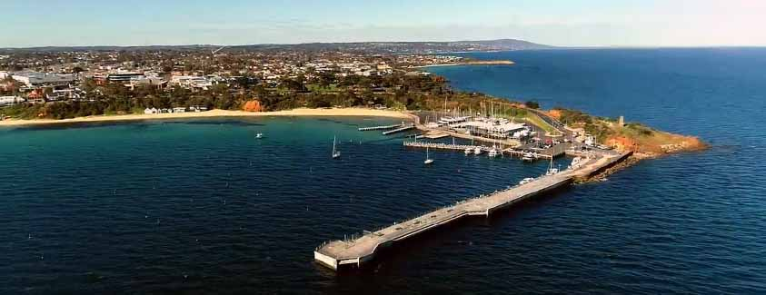Mornington Pier aerial view