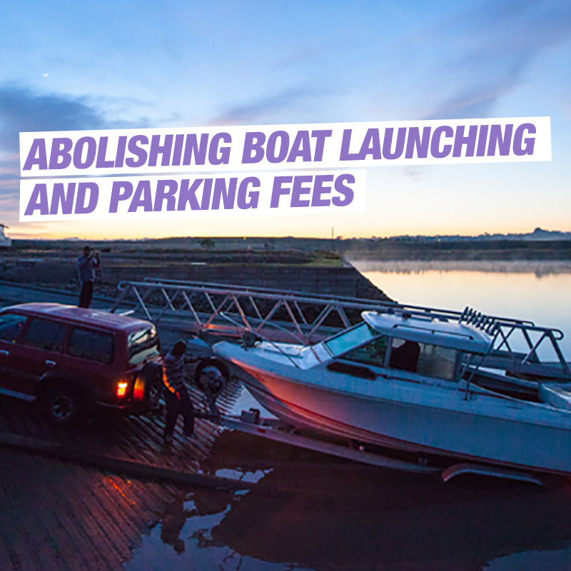 Abolish boat launching and parking fees