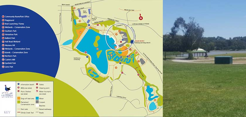 Lilydale Lake Map Chart