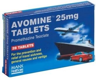 Avomine for seasickness