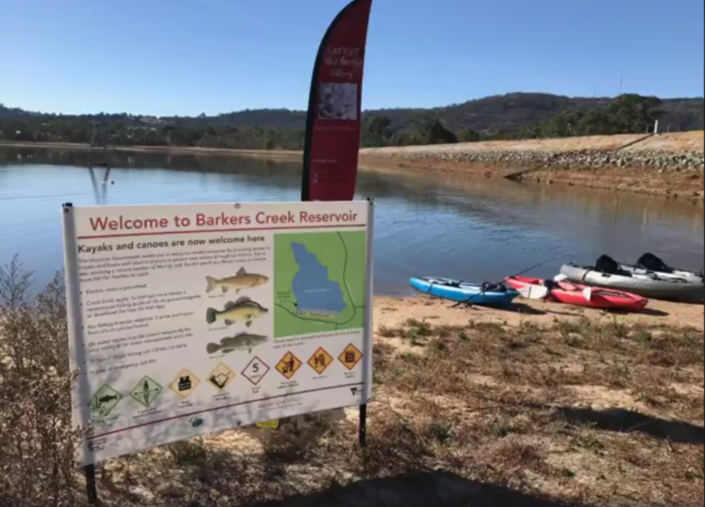Barkers Creek Reservoir open to kayaks