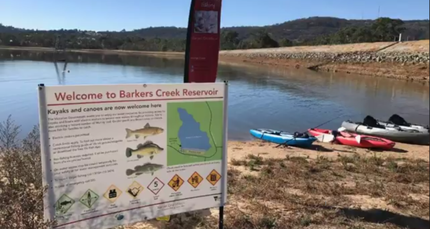 Barkers Creek Reservoir open to kayaks