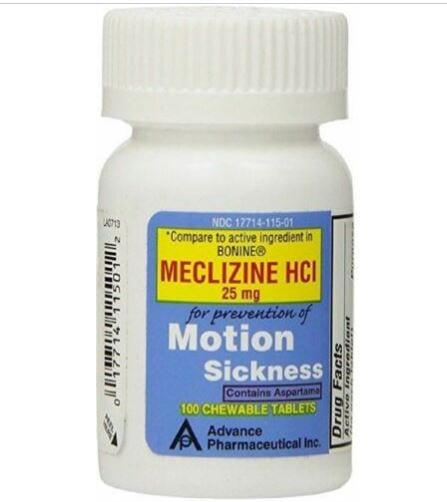 Meclizine HCI seasickness tablets