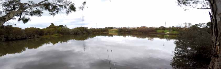 Fishing Saint Augustines Dam Geelong
