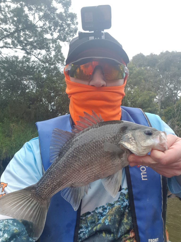 Steve with a 35cm EP from werribee River