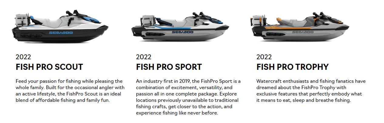 Sea-Doo FISH PRO new models